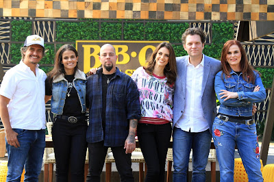 Rogério De Betti, Isabela Dellal, Tossi, Chris Flores, Carlos Bertolazzi e Dahoui (Foto: Gabriel Gabe)