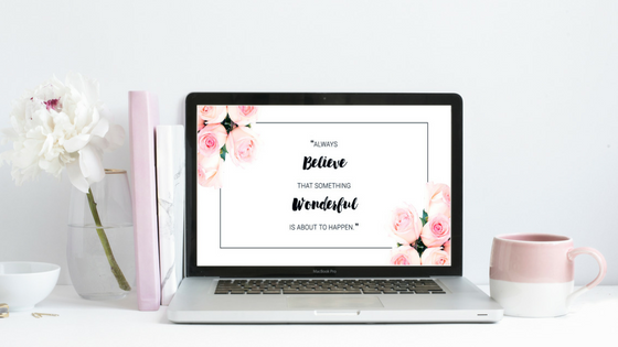 Blog anniversary // Free printable and desktop wallpaper