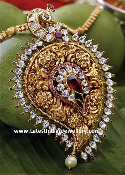 VBJ Peacock Gold Pendant
