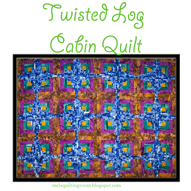 Twisted Log Cabin Quilt Pattern - variation of curvy log cabin