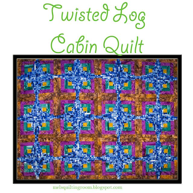 Twisted Log Cabin Quilt Pattern - variation of curvy log cabin