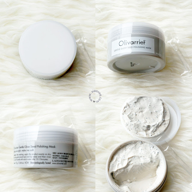 Olivarrier Gentle Glow Seed Polishing Mask review, Olivarrier Korean Review, Olivarrier Mask Review, Olivarrier Masker Review Bahasa Indonesia