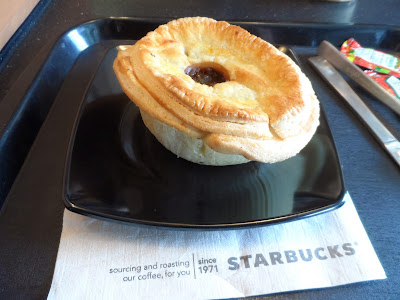 Starbucks beef and onion pie