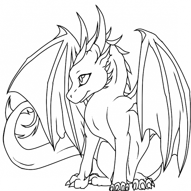 Top Printable Dragon Coloring Pages