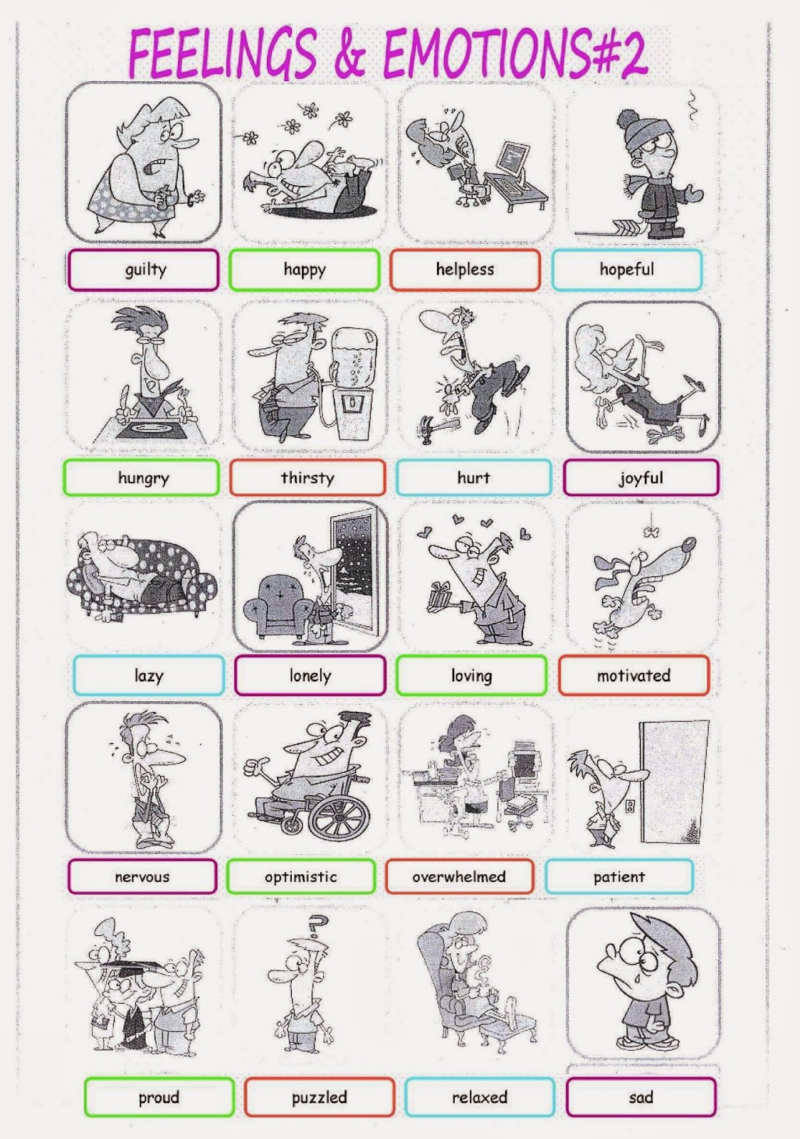 Let S Learn English Feelings Amp Emotions