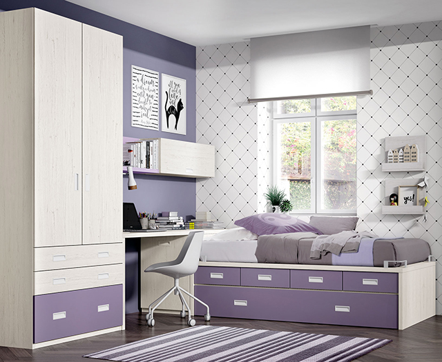 Dormitorio compacto 1499 - Muebles lara valencia ...