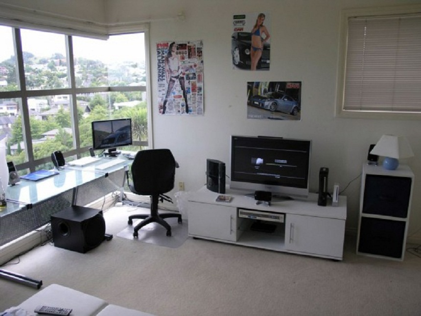 beautiful computer room ideas with tv