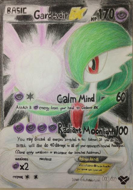 Gardevoir Ex Full Art Fake Pokemon Card By Purplesoysauce