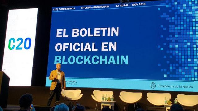 Boletín oficial de Argentina es el primer medio en utilizar Blockchain #C20