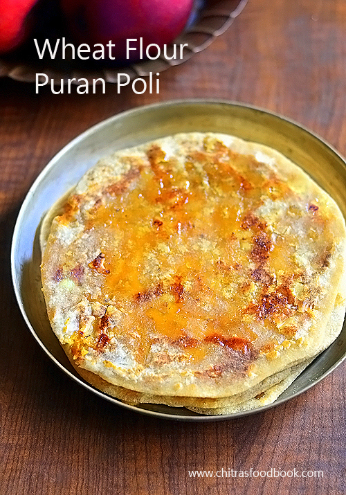 puran poli with wheat flour