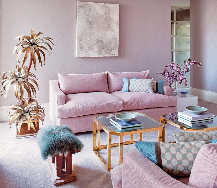 Romantic Living Room Ideas For Feminine Young Ladies Casa: In The Name Of Vintage: I LOVE PINK Nº1