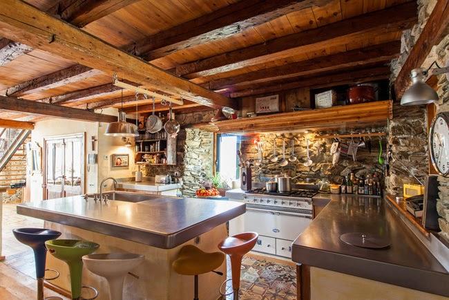 Estilo Rustico Casa Rustica De Piedra En Los Pirineos