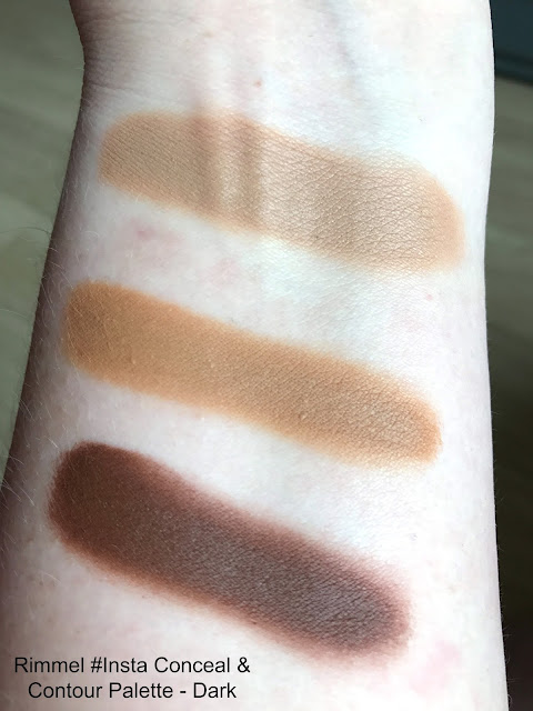 New Rimmel #Insta Makeup Collection Conceal & Contour Palette Dark Swatch