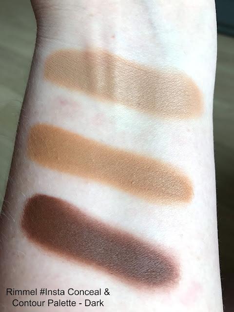 New Rimmel #Insta Makeup Collection Conceal & Contour Palette Dark Swatch