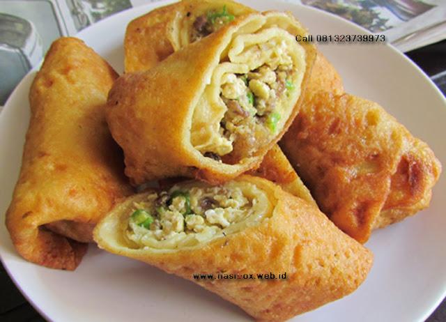 Resep telur dadar isi daging-nasi box patenggang ciwidey