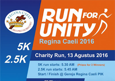 Run For Unity 2016 Jakarta gereja regina caeli pantai indah kapuk jakarta