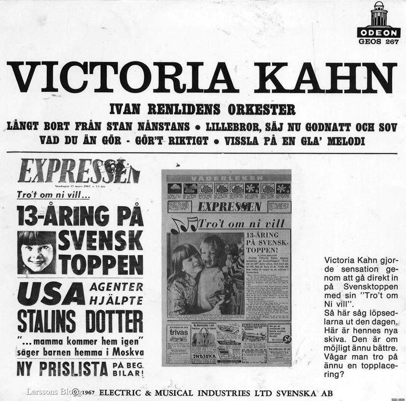 a9b75bdbdc2 Yvonne Victoria Kahn, född 6 februari 1954 i Årsta, är en svensk  skådespelerska, mimare, sångerska, koreograf och teaterregissör.