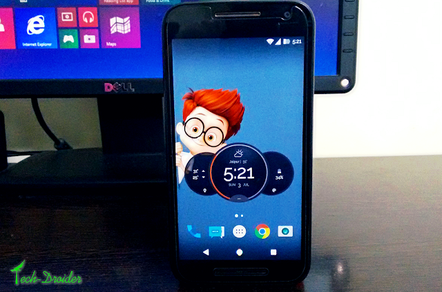 Moto Z TimeWeather Widget for other Motorola Devices