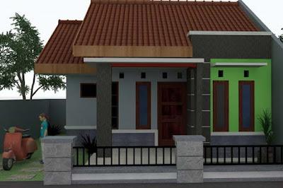 model batu alam untuk teras rumah