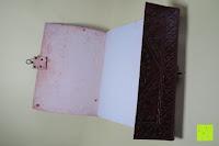aufschlagen: Creoly handgemachtes 'Day Of The Dead' Journal aus geprägtem Leder (15cm x 20cm)