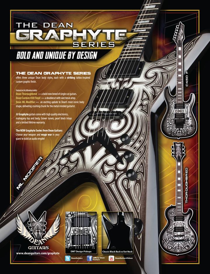 Guitarra Inteligente Dean Guitars Lanca Graphyte Series