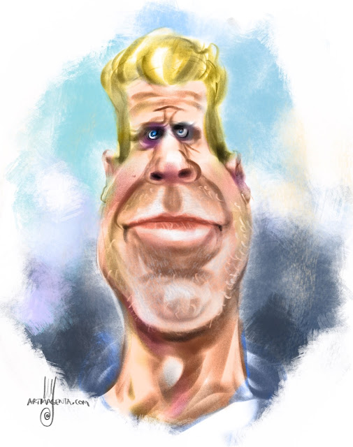 Ron Perlman Caricature by Artmagenta