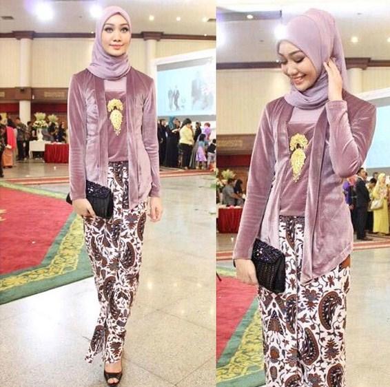 Jilbab Untuk Baju Batik: 25 Model Kebaya Kutubaru Baru Yang Cocok Untuk Seragam