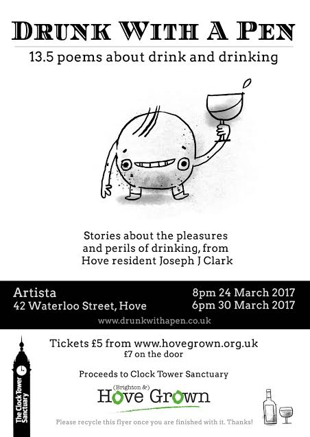Days Out in Hove - New Writers Festival 24 March to 2 April 2017