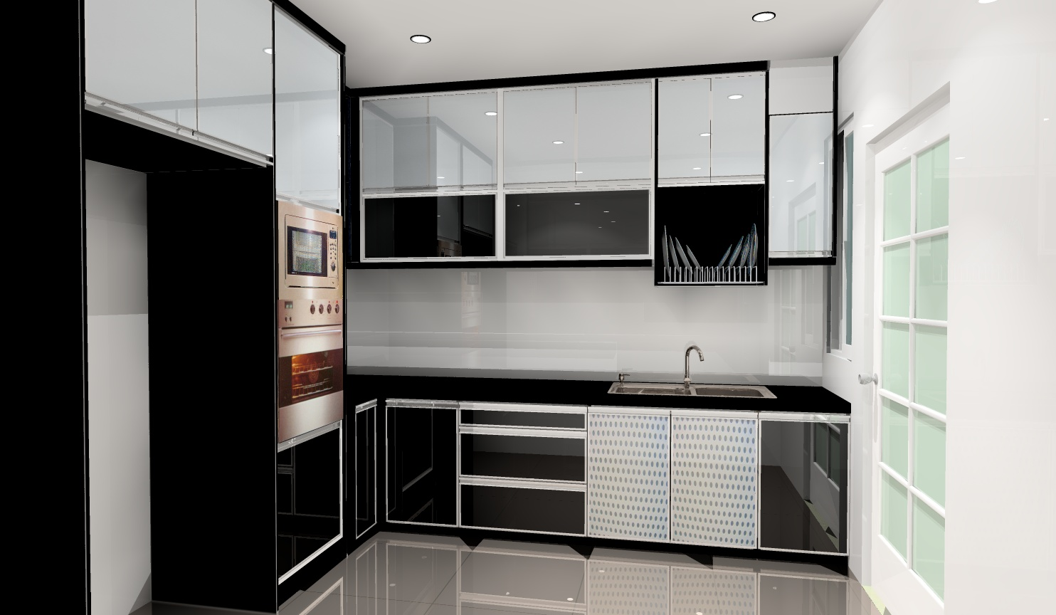 Warna Kabinet Dapur Moden Desainrumahid