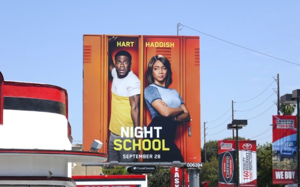 Night School billboard