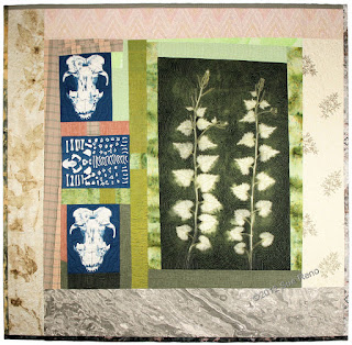 Skunk and Garlic Mustard, by Sue Reno