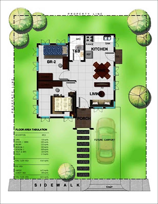 Bambu Estate Hana House Model Floor Plan