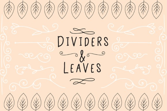 Dividers And Leaves Graphics