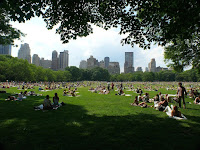 Crowds of sunbathers enjoy a beautiful day in Central Park. (Credit: flickr/Pauleon Tan) Click to Enlarge.
