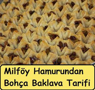 Milföy Hamurundan Bohça Baklava Tarifi