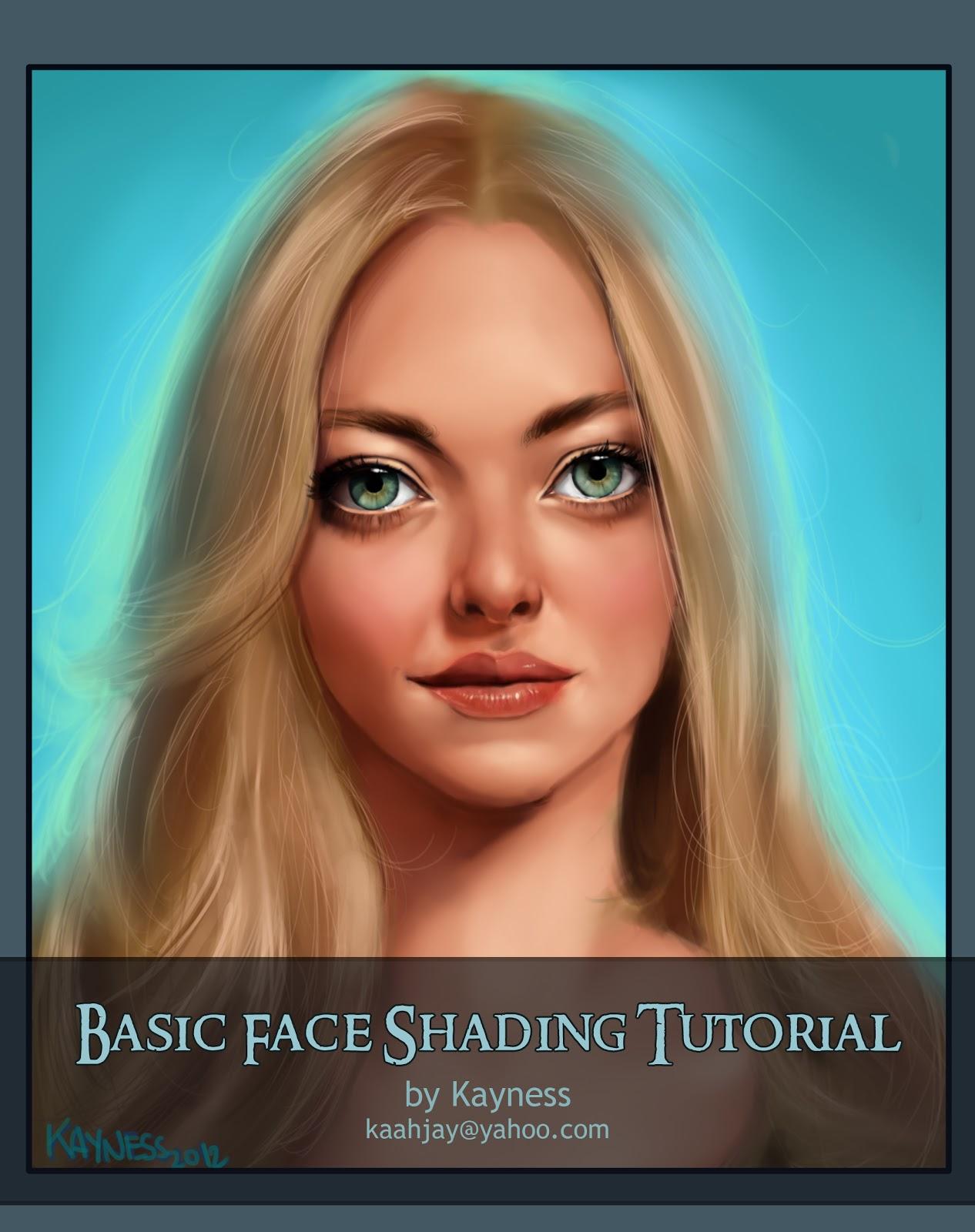 Kayness Art Blog Basic Face Shading Tutorial