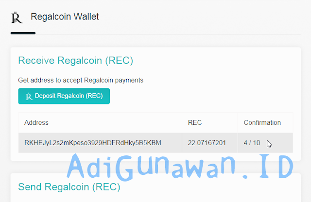 Wallet Regalcoin REC