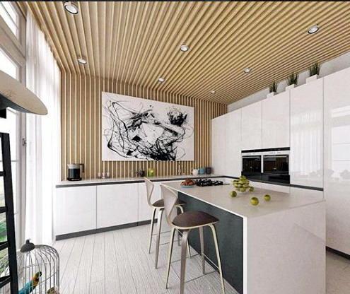 dapur kitchenset rumah minimalis  jadi satu dengan ruang makan