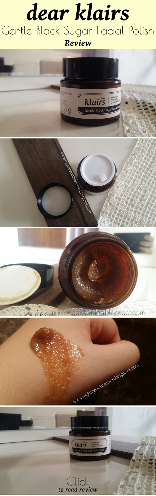 [KLAIRS] Gentle Black Sugar Facial Polish: Review