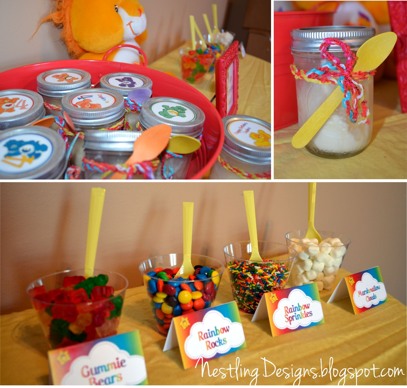 Nestling Care Bear Party Reveal