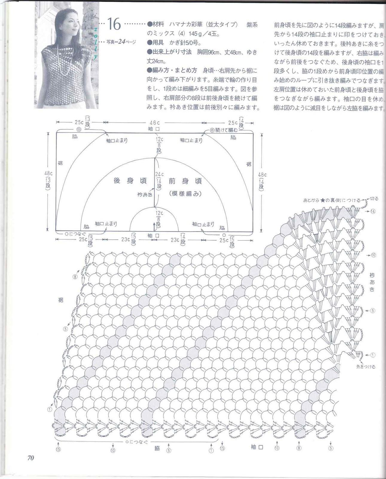 PATRONES GRATIS DE CROCHET: Bello CHALECO asimétrico a crochet ...