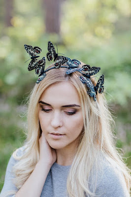 wedding ideas - wedding planning services - bridal headpiece - monarch butterfly headpiece - esty - Wedding blog by K'Mich - day of wedding planners in Philadelphia