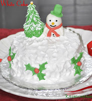 White Cake For Christmas