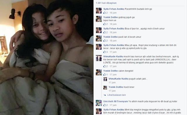 Astagfirullah.... Sekarang lagi Heboh Anak SD Mengunggah Foto Bersama Pacarnya di Atas Ranjang