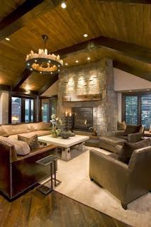 Diseño sala rústica