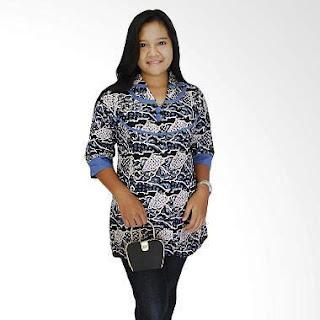 Baju Batik Kerja Guru Kombinasi Terbaru