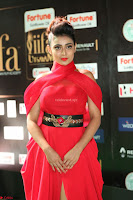 Apoorva in a Stunning Tight Leg Split Sleeveless Red Gown at IIFA Utsavam Awards 45.JPG