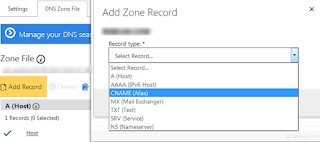 add dns zone record on godaddy