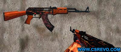 Skin AK 47 - Fire - HD CS 1.6, ak-47