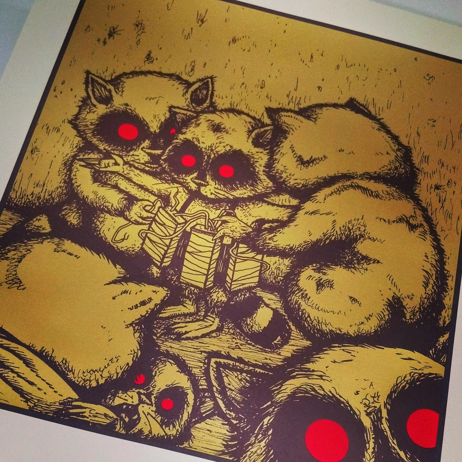 "Insomnia Exclusive ""My Brother Was A Hero"" Gold Variant Screen Print by Jermaine Rogers"
